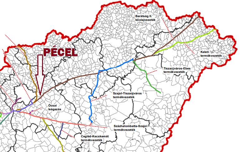 pécel térkép Építik a szlovák magyar gázvezetéket pécel térkép